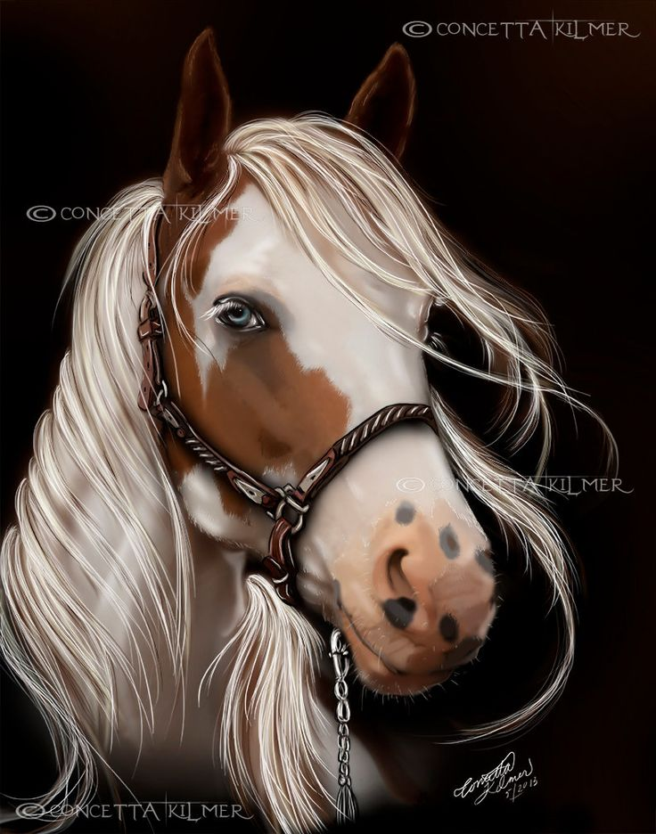 Paard kunst paard Print het Decor van door enchantedezignstudio