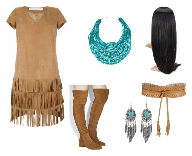 """Pocahontas Costume"" by oliviaf14 ❤ liked on Polyvore featuring Drome, Office, NAKAMOL and BCBGMAXAZRIA"