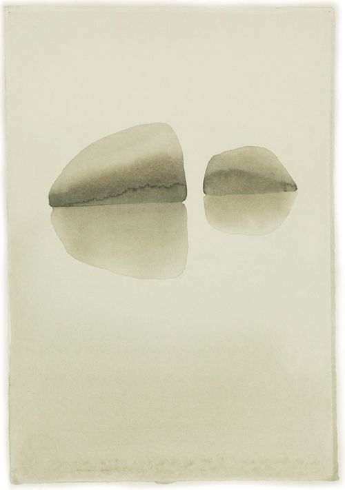 Rock | Mats Gustafson. water color on paper