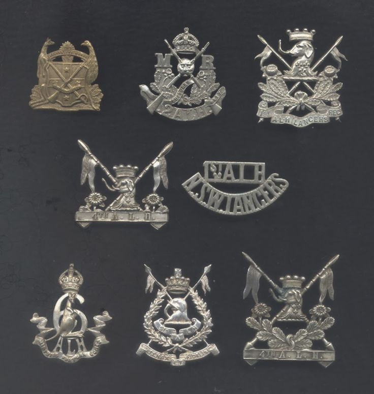Some nice and very rare Australian Light Horse badges - 1900 to 12