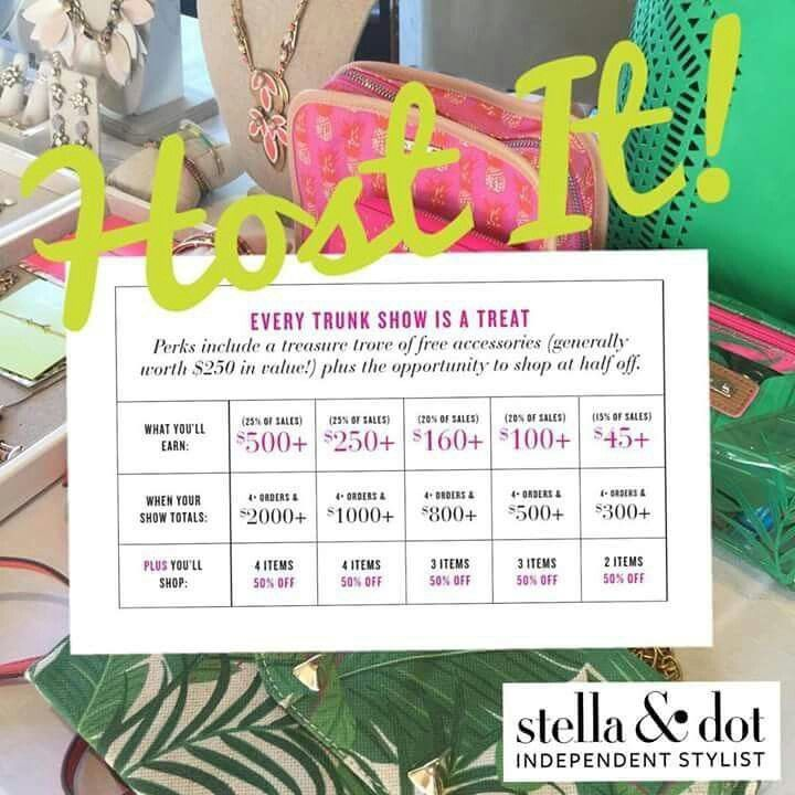 Benefits of hosting a Stella and Dot trunk show! What a fun excuse to hang out with friends!