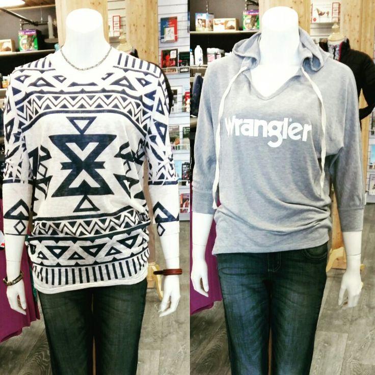 Laissez vous tenter par les nouveaux chandails Wrangler !!!