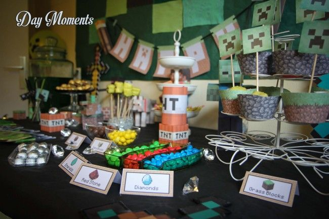 Anniversaire Minecraft » Day Moments sweet table