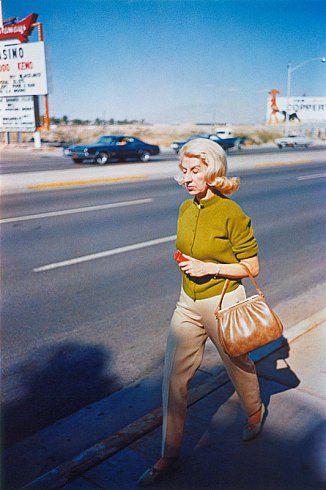 http://www.cheimread.com/artists/william-eggleston/# William Eggleston UNTITLED (WOMAN WALKING ON SIDEWALK) LAS VEGAS, NV, circa 1965-68 Dye-transfer print 16 x 20 inches 40.6 x 50.8 centimeters Edition of 15
