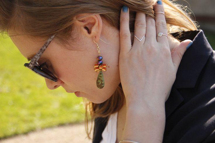 Almost snakeskin earring