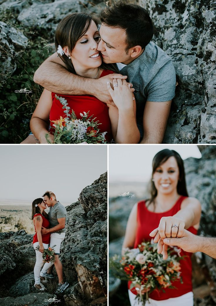 Preboda Aitor, engagement ring, engagement, couple, photography, portrait, mountains, rocks, bouquet, bride, groom, preboda, prewedding, flores, flowers, anillo de compromiso, lifestyle