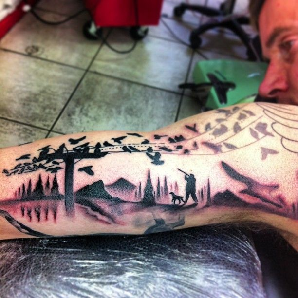 Hunting Tattoos Related Keywords & Suggestions - Duck Hunting Tattoos ...