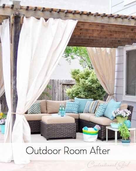 Ajoutez des rideaux à votre terrasse pour créer une ambiance plus intime.   38 idées géniales pour transformer votre maison