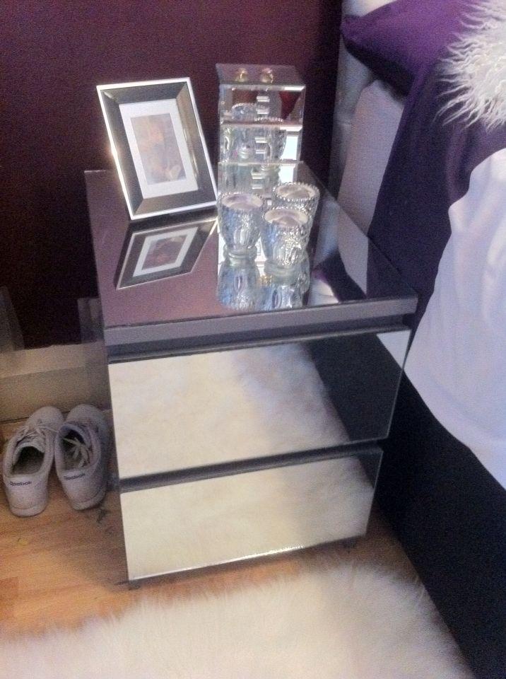Ikea Malm mirror hack painted Grey  Ideas  DIY  Meuble