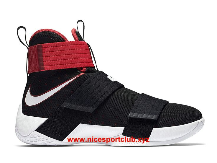 Chaussures Homme Nike Zoom LeBron Soldier 10 Prix Pas Cher Black/Team  Red-White