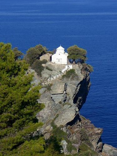 Church from on the island of Skopelos Greece