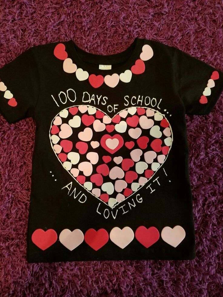 100th Day Of School Shirt Hearts Diy With Images 100 Day