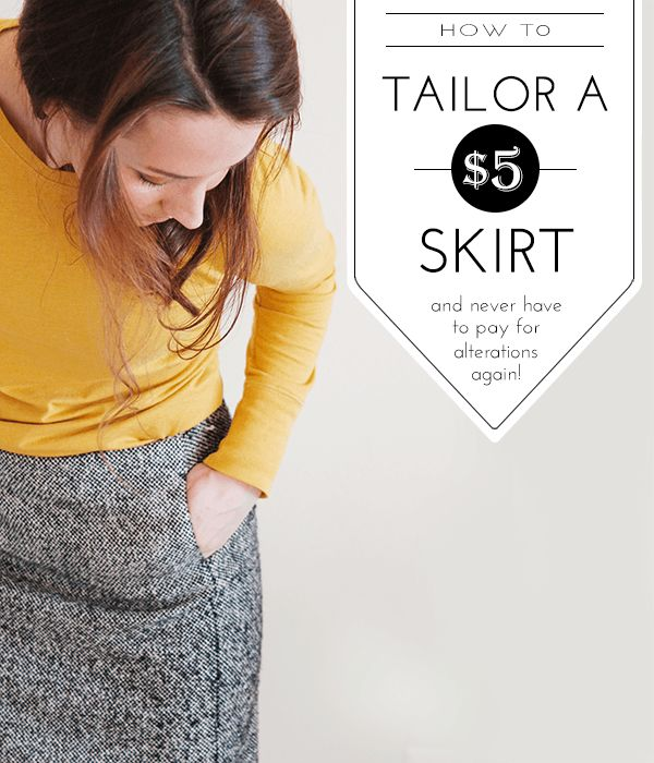 The easiest way to tailor a $5 thrifted skirt so it fits