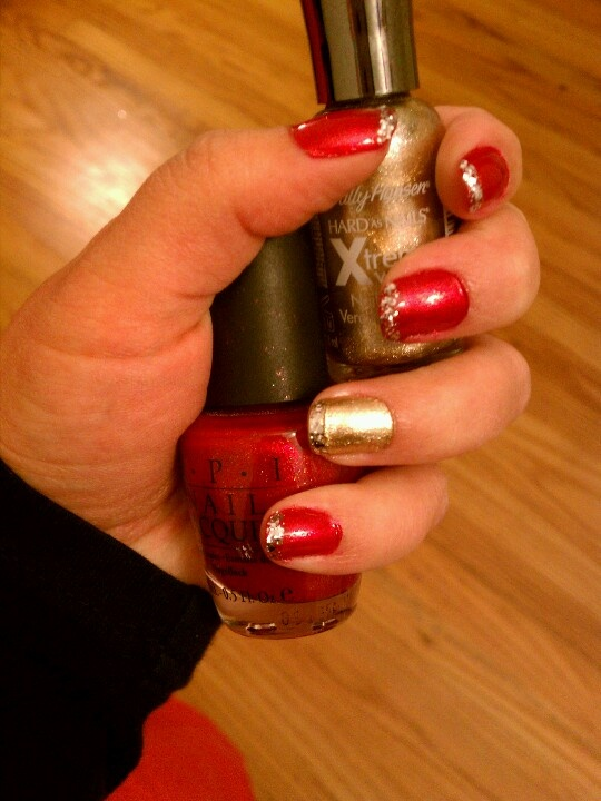 49ers nail art by me   fashions fade. style is eternal ♛   Pinterest