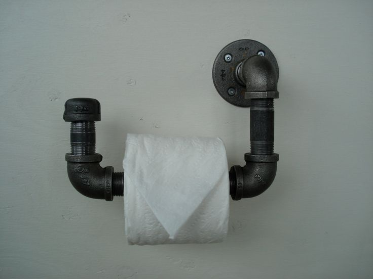 Industrial Pipe Toilet Paper Holder 2 by IndustrialPipeDesign, $35.00