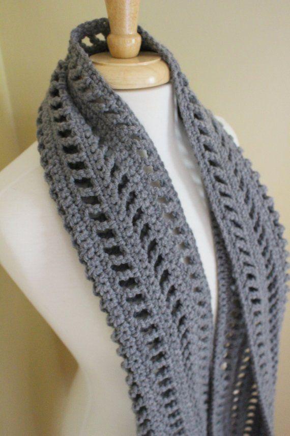 PATTERN – Easy crochet fall scarf pattern – Boho scarf crochet pattern – Unisex crochet scarf pattern – The Billie crochet scarf pattern
