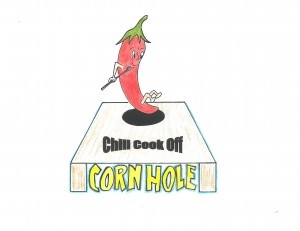 Chili Cookoff and #Cornhole Tournament Logo designed by student Aubrey Eckert . Learn more about the event www.wwrcf.org/CornholeandChili
