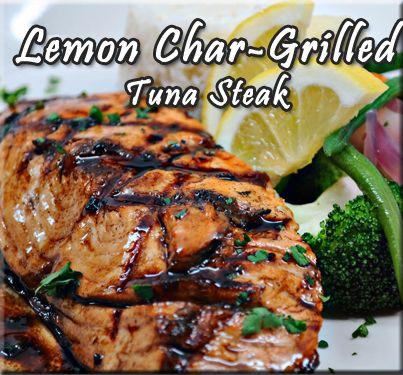 Lemon Char-Grilled Tuna Steak Recipe from The BBQ Man
