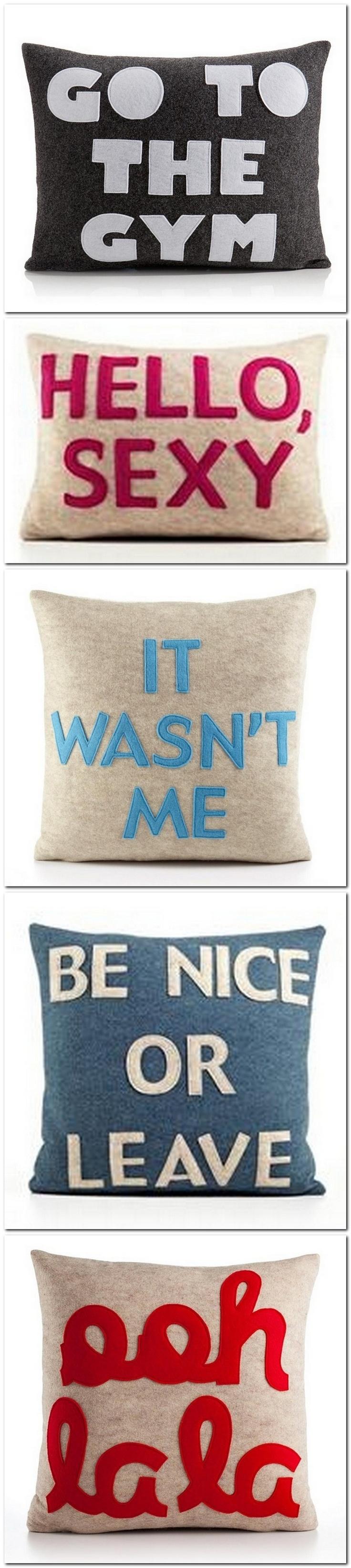 cojines pillows con mensaje