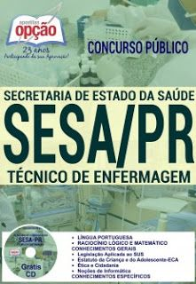 NewsApostilas : Apostila Concurso SESA PR 2016 (ATUALIZADA)