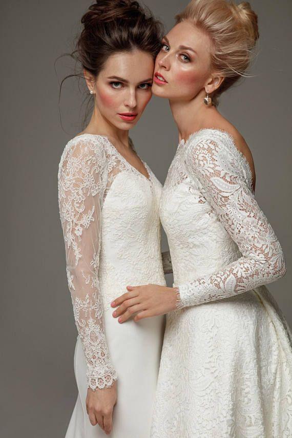 Ivoor lace dress hoesjes boho bruiloft jurk elegante boho wedding gown rustieke bruiloft kant jurk V terug bruids lange bruiloft wit blozen