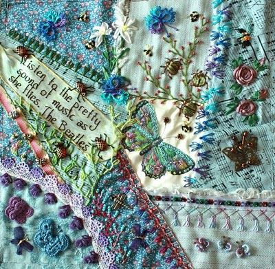 CRAZY QUILTING INTERNATIONAL: crazy quilting a block round robin... a must see