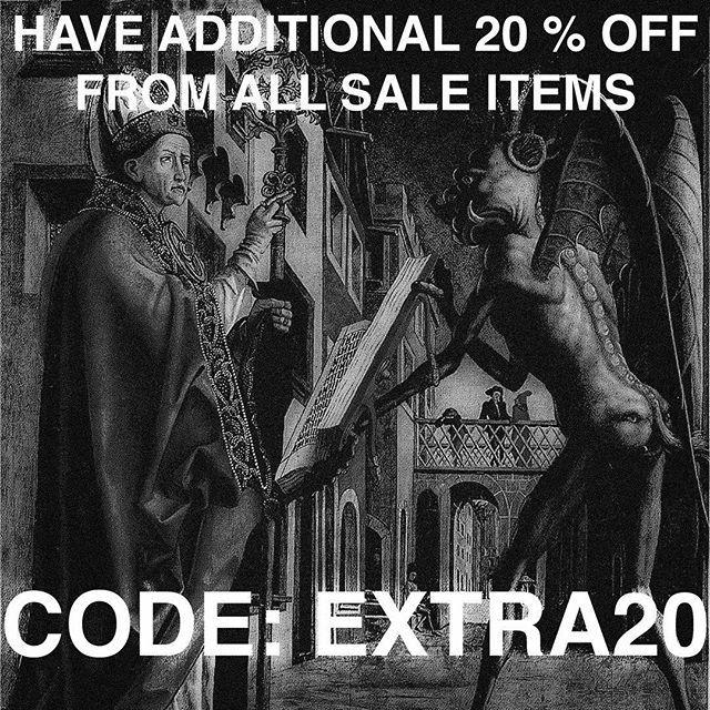 Yep. Its true. Extra 20% discount on all sale items use code EXTRA20 @ sevenhelsinki.com