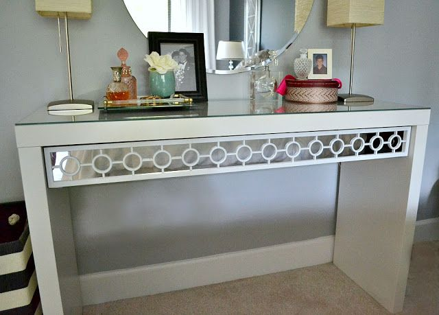 Dressing Table Gets a Makeover for less than 20 dollars {tutorial}