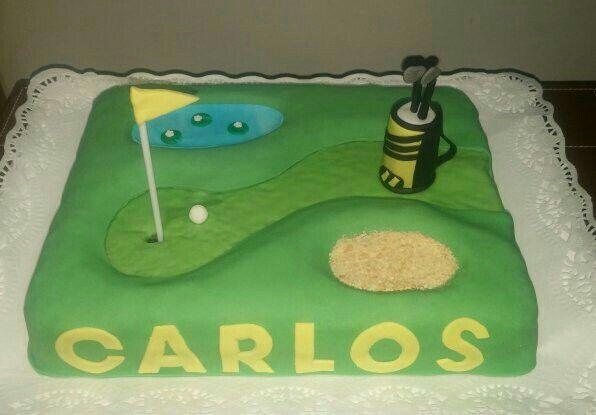 Tarta para celebrar el Santo de un pequeño jugador de golf!