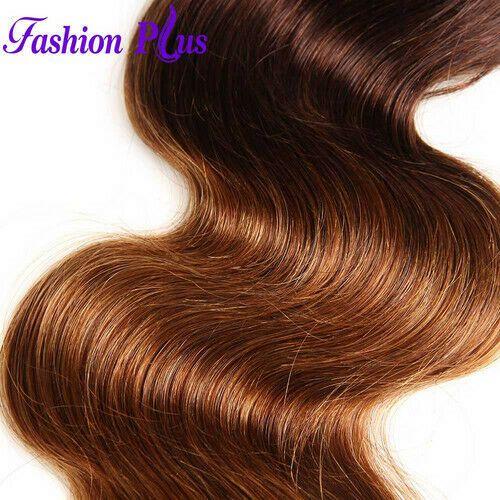 Brazilian Human Hair Ombre 26″ Body Wave T4/30 Bun…