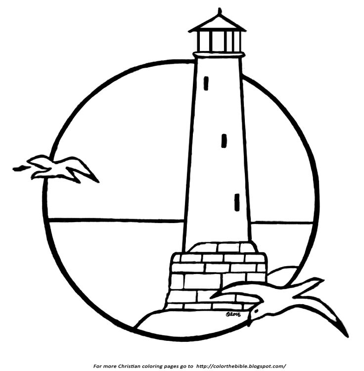 A Lighthouse Coloring Page Malvorlagen Vorlagen