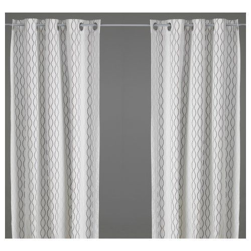 """IKEA Henny Rand Cotton Fabric Curtains 98"""" x 57"""", One Pair by IKEA, http://www.amazon.com/dp/B008PDLXGY/ref=cm_sw_r_pi_dp_g.crrb0AA9FN2"""
