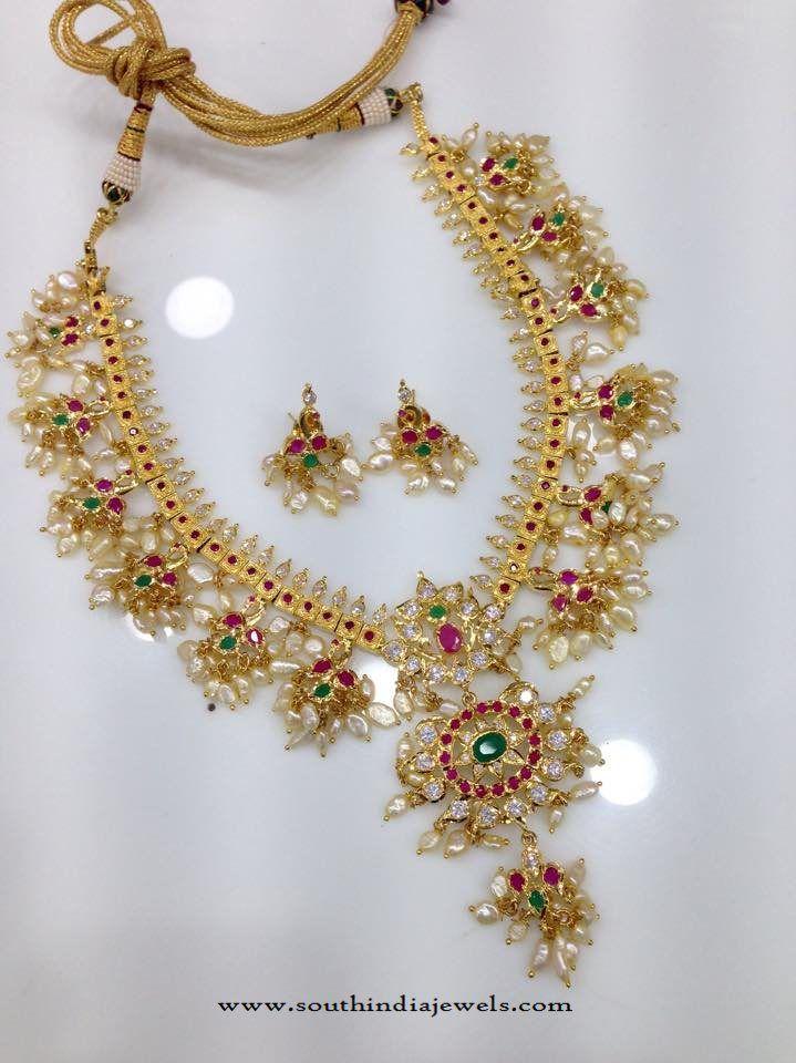 Gold Plated Guttapusalu Necklace Models, One Gram Gold Guttapusalu Necklace Collections, Imitation Gold Guttapusalu Designs.