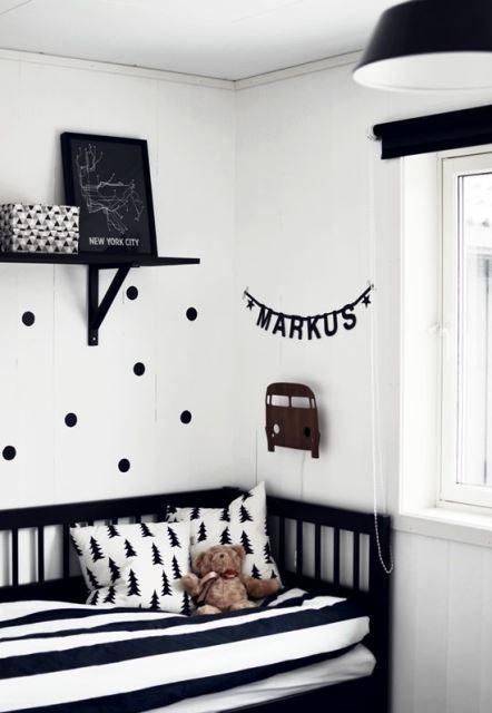 Zimmer Schwarz Weiß
