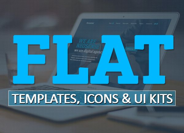 +50 Flat Design Templates, Icons and UI Kits for Designers