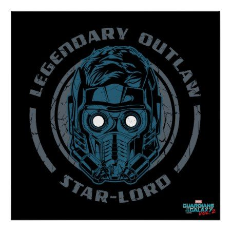 Guardians of the Galaxy Vol. 2 | Star-Lord Icon Poster - click to get yours right now!