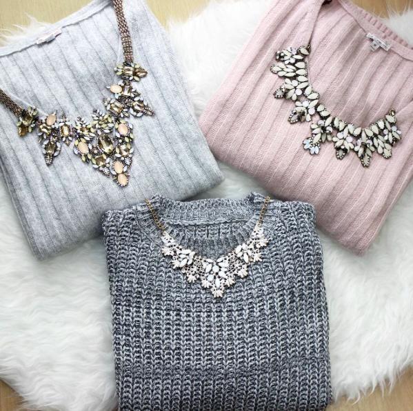 Scoop neck dress show necklaces go wear