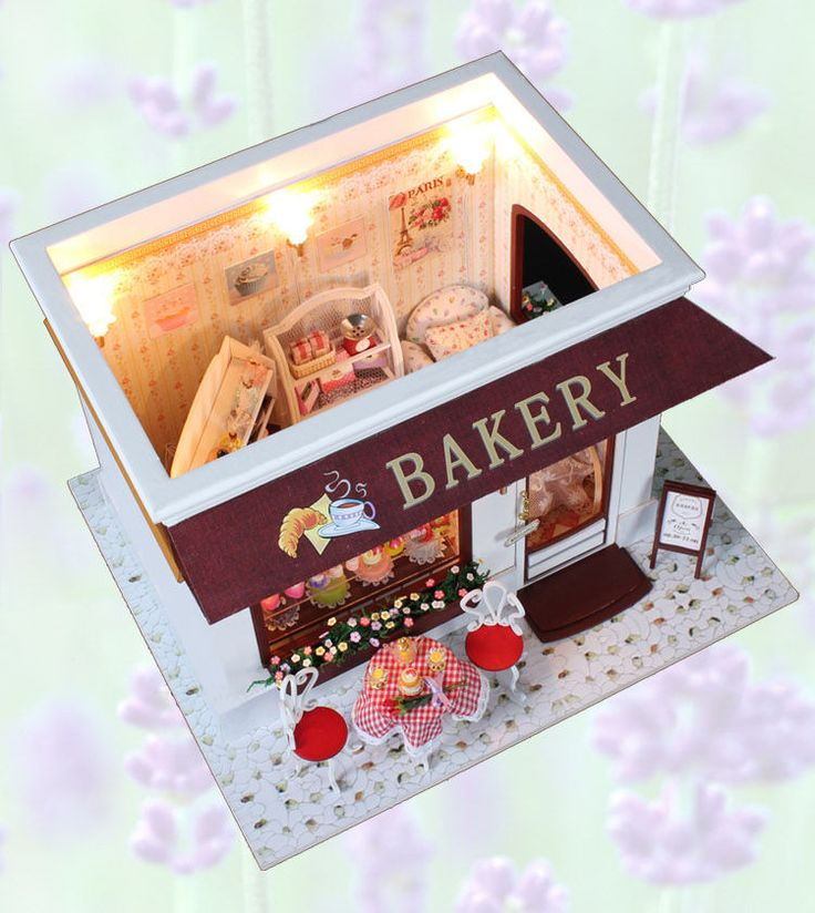 Dollhouse Miniature Diy Kit W Light Cake Store Bakery: 1000+ Images About * My Fave Dolls Cafe Diorama's * On