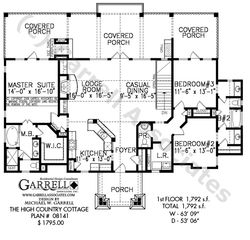 high country cottage house plan house plans by garrell associates inc - English Cottage House Plans