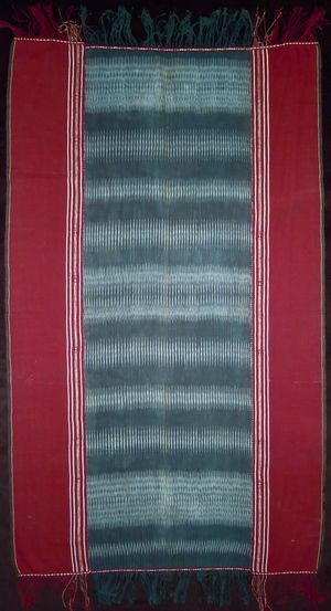 Ulos, ritual cloth, Batak people. Cotton, warp ikat, early 20th century