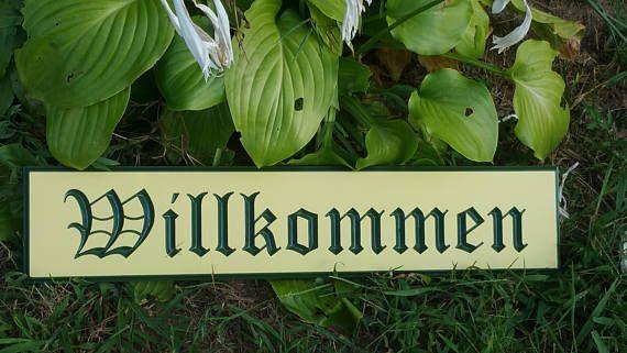 Willkommen Oktoberfest Outdoor Engraved PVC Board Sign