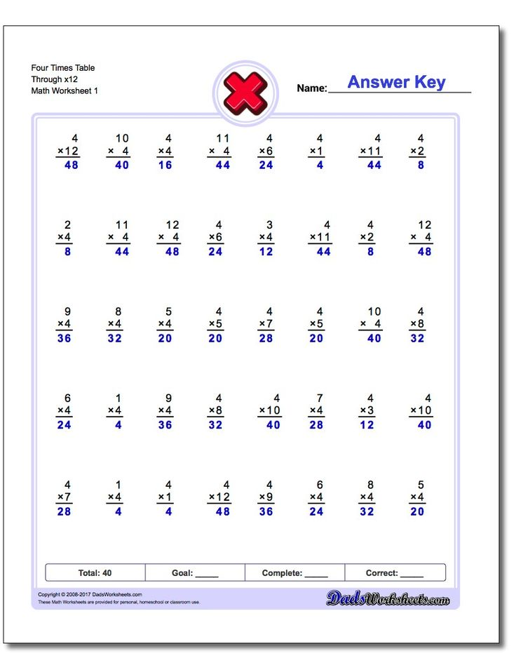 Best Multiplication Worksheets Images On   Times