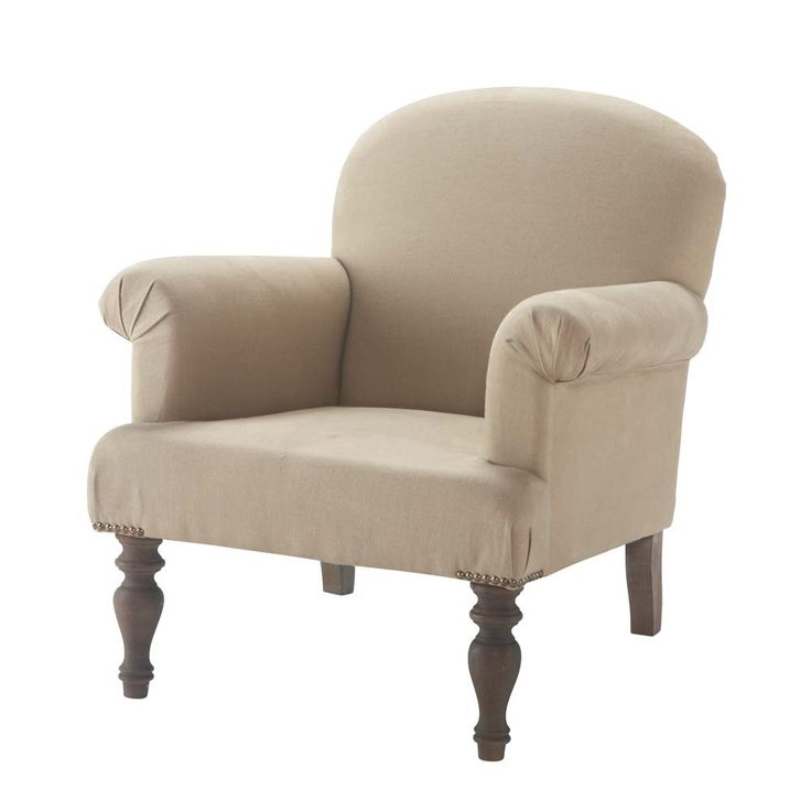 Linen armchair Gabin