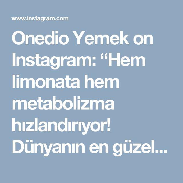 """Onedio Yemek on Instagram: """"Hem limonata hem metabolizma hızlandırıyor! Dünyanın en güzel buluşu: Yeşil Çaylı Limonata! 😎 Minik bir not şeker yerine balla da…"""""""