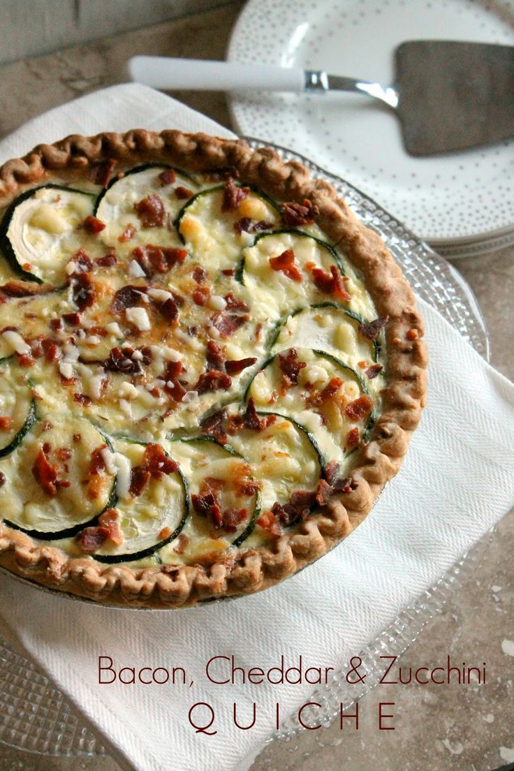 The Kitchen Prep: #BrunchWeek: Bacon, Cheddar, Zucchini Quiche