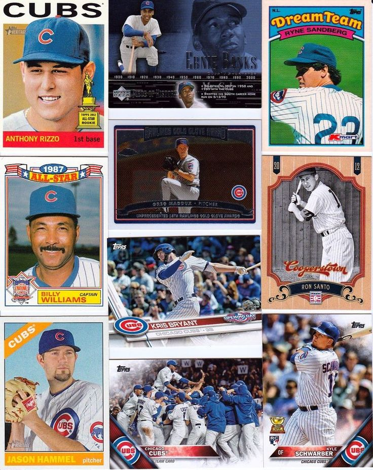 HUGE 800 Different CUBS cards lot Rookie Cards 1974 - 2017 SANTO Bryant SANDBERG #ChicagoCubs