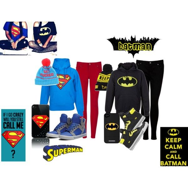 Batman or Superman outfit. We sooo have to do this Sydney!!