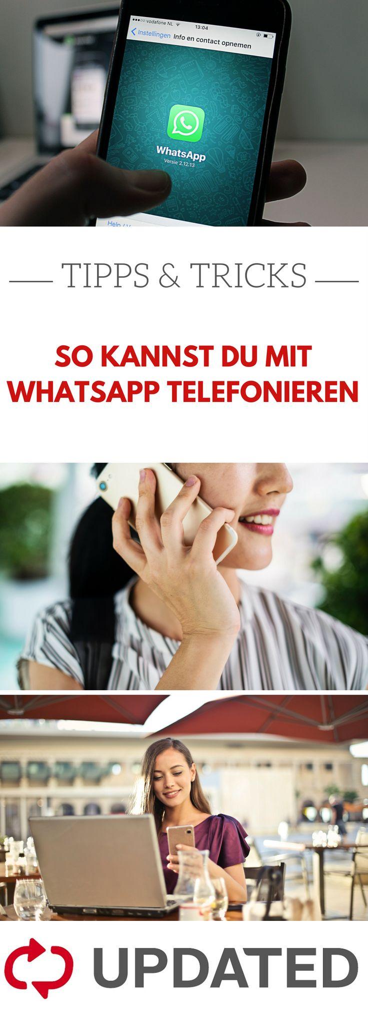 Neben Nachrichten im Chat schreiben, kannst du mit Whatsapp auch telefonieren. W…