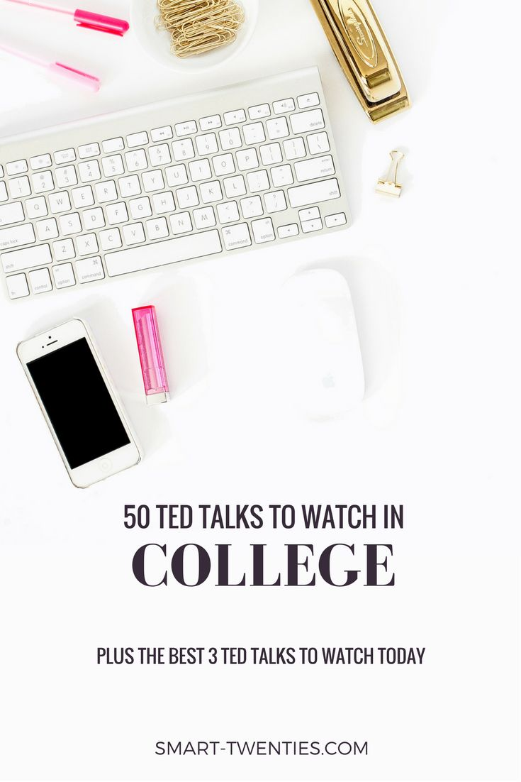 50 motivational TED Talks that will change your life. Inspirational life advice and quotes for millennials and twenty-somethings. A must-read list if you're in college!