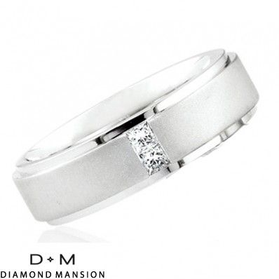 .26ct Princess Cut Diamond Wedding Ring for Men & Women-14k White Gold